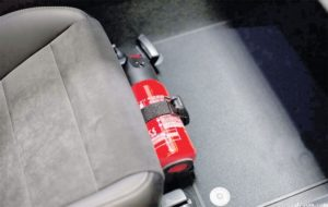 How to behave in the event of a fire in your car?